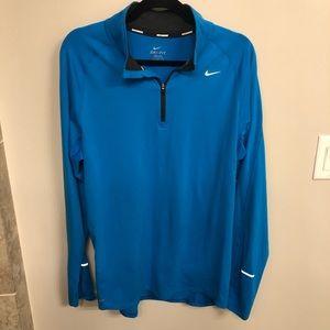 Men's blue Nike Dri Fit running pullover half zip
